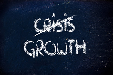 end of the crisis, time to grow