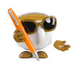 Coffee cup with pen