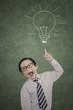 Smart businessman and bright idea