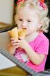baby girl with ice cream