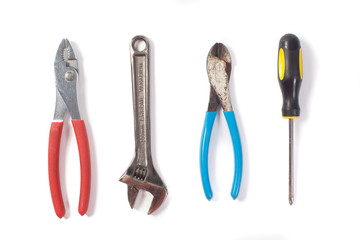 Tool set isolated on white