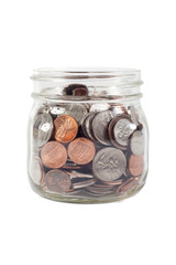 Jar of Change Isolated