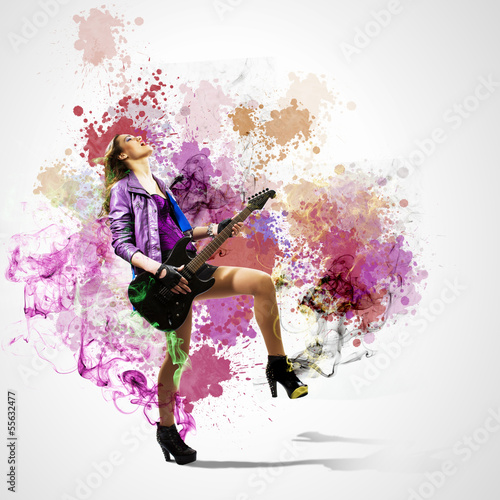 Rock passionate girl