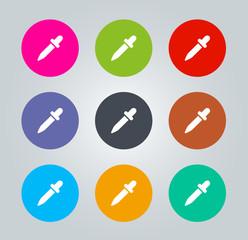 dropper - Metro clear circular Icons
