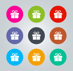 Gift - Metro clear circular Icons