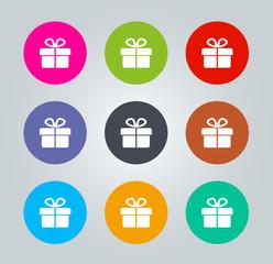 Gift - Metro clear circular Icons