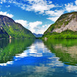 beautiful landscapes of Austrian lakes