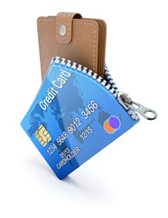 Wallet in the credit card