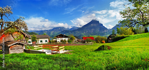 Alpine countryside scenery