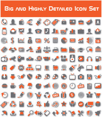 Big icons set shadow