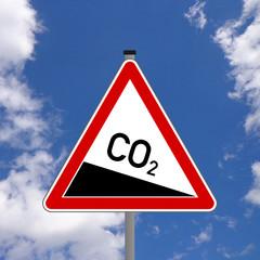 CO2 Emissionen Schild  #130828-01