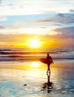 Surfing on Bali