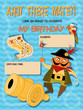 Birthday invitation with a pirate