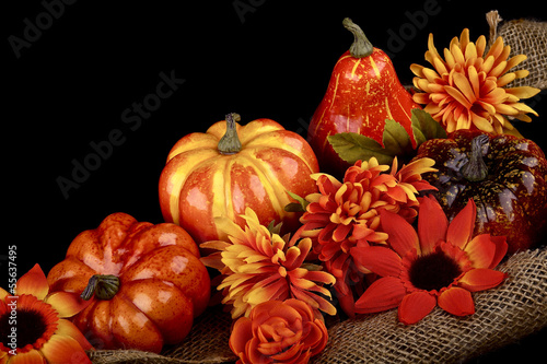 Thanksgiving decoration on black background