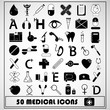 Set of 50 Medical Icon,