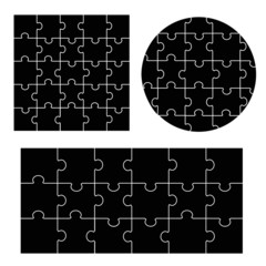 Various sizes puzzle, vector