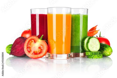 Fototapety, obrazy : Fresh vegetable smoothie