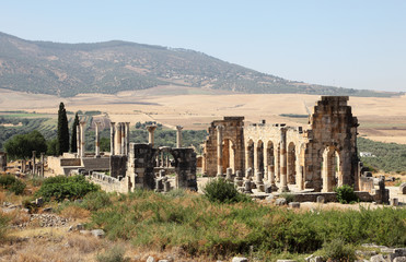 Volubilis - Roman ruins in Morocco, North Africa