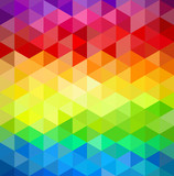Colorfull vintage abstract geometric pattern.