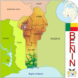 Benin Africa national emblem map symbol location