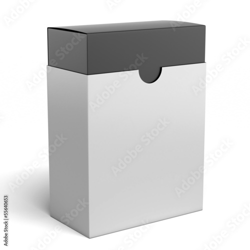 white box with black inside