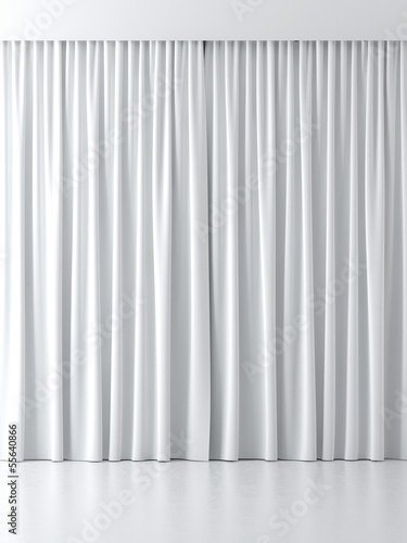 Leinwandbild Motiv white curtains