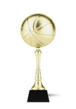 basketball trophy in gold