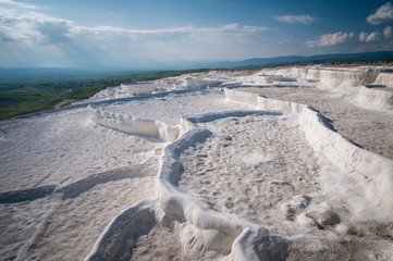 Pamukkale with water dry out