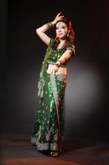 beautiful female wearing traditional indian costume