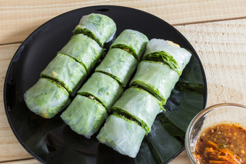 vegetables spring roll