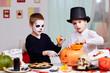 Halloween preparations