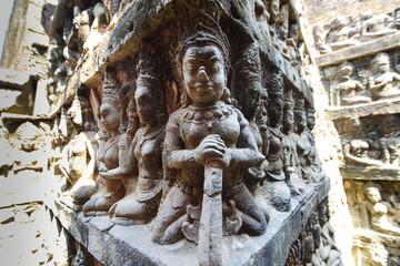 Devil Relief statue in Cambodia Angkor Wat, Cambodia