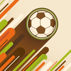 Modern soccer poster.