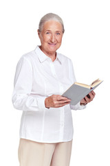 Granny with book