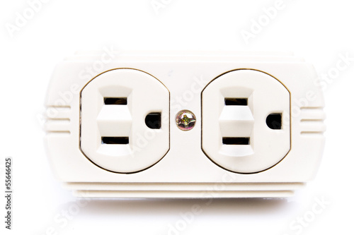 U.S. electric household outlet isolated -