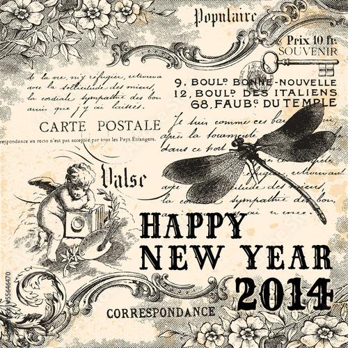 Vintage Happy New Year 2014 © lynea