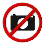 Cameras not allowed