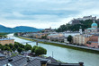 Summer Salzburg City view from up (Austria)