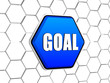 goal in blue hexagon