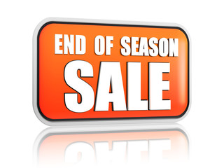 end of season sale orange banner