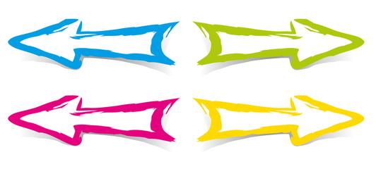 Fleches couleurs - Pinceau