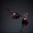 Falling wine