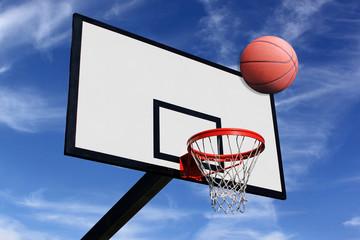 Un panneau de basketball