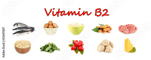 Products which contain vitamin B2