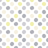 Polka dot texture in doodle style.