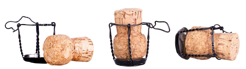 Cork from champagne isolated