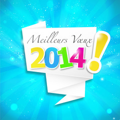 bulle origami : meilleurs voeux 2014