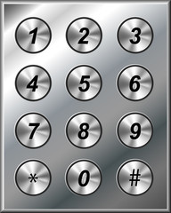 Metal phone keypad
