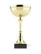 Gold trophy cup