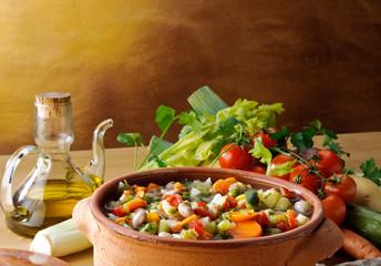 Zuppa di verdure con ingrdienti